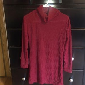 Dresses - Red sweater dress turtle neck
